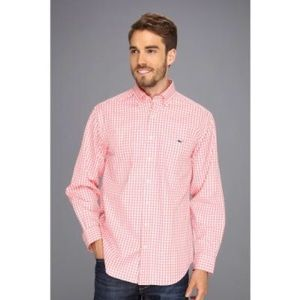 Pink Plaid Vineyard Vines Long Sleeve Button Up